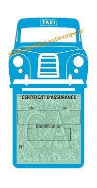 Porte assurance voiture taxi BlackCab Anglais de Londres Stickers rétro adhésif vinyle bleu clair.