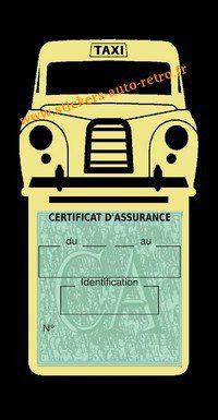Porte assurance voiture taxi BlackCab Anglais de Londres Stickers rétro adhésif vinyle beige.