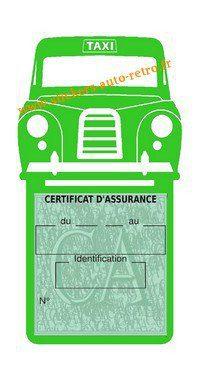 Porte assurance voiture taxi BlackCab Anglais de Londres Stickers rétro adhésif vinyle vert clair.