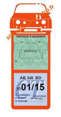 Autocollant orange Stickers porte méga vignette assurance voiture Renault R8 Gordini rétro-mobile