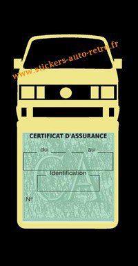 Etui vignette assurance T4 Volkswagen beige le support pochette certificat voiture.