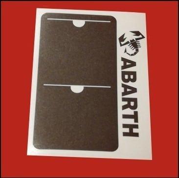 Abarth vignette assurance voiture