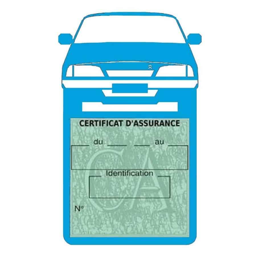AX CITROEN vignette assurance voiture bleu clair