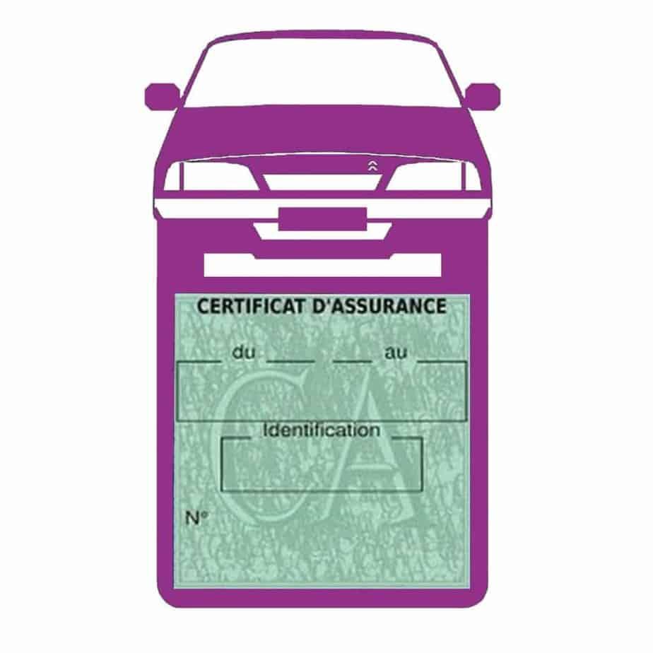 AX CITROEN vignette assurance voiture mauve