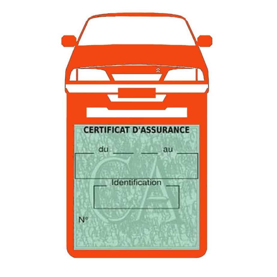 AX CITROEN vignette assurance voiture orange