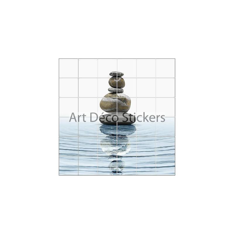 stickers carrelage mural faience deco cuisine ou salle de bain galets ref1895 stickers muraux deco
