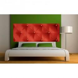 papier peint tete de lit capitonne rouge 3621 stickers muraux deco