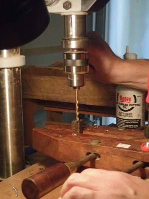 Drilling to make threaded
