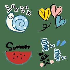梅雨と初夏の絵文字