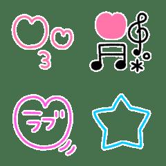ゆるシンプル絵文字♡