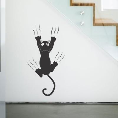 Dekori ay10275 adesivi murali con animaletti. Adesivo Murale Gatto Dispettoso Stickers Murali
