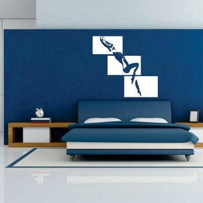 Pertanto, la decorazione delle pareti della camera da letto, che determina l'atmosfera,. Adesivo Murale Risveglio Sublime Stickers Murali