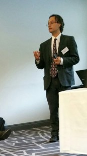 Dr Nick Shenker delivering a very well received speech on Rheumatology