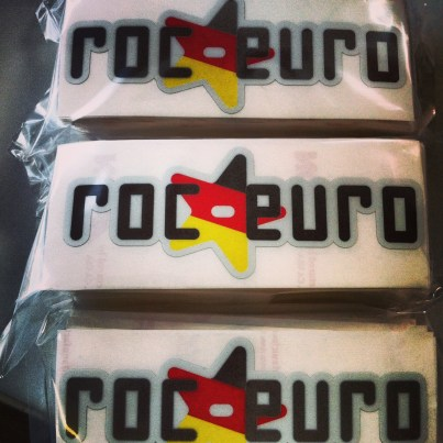 RocEuro Contour Cut Stickers