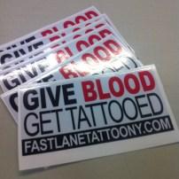 Fast Lane Tattoo Bumper Sticker