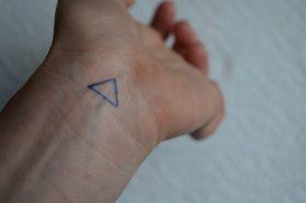 Tracing homemade tattoo
