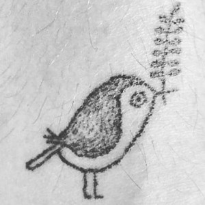 Stick and poke tattoo ideas - Bird