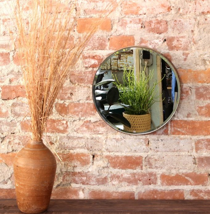 sticks and bricks northampton accessories round metal mirror