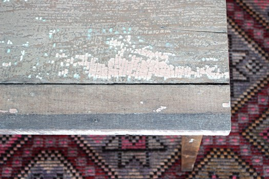 sticks and bricks painted coffee table