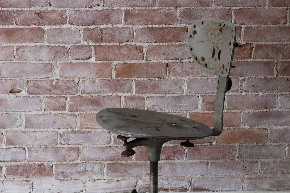 sticks and bricks vintage industrial stool