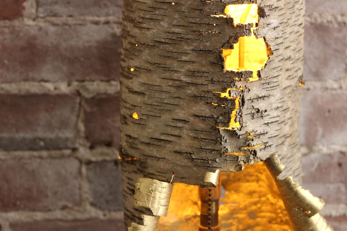 sticks and bricks northampton Turned Burl Birch Lamp