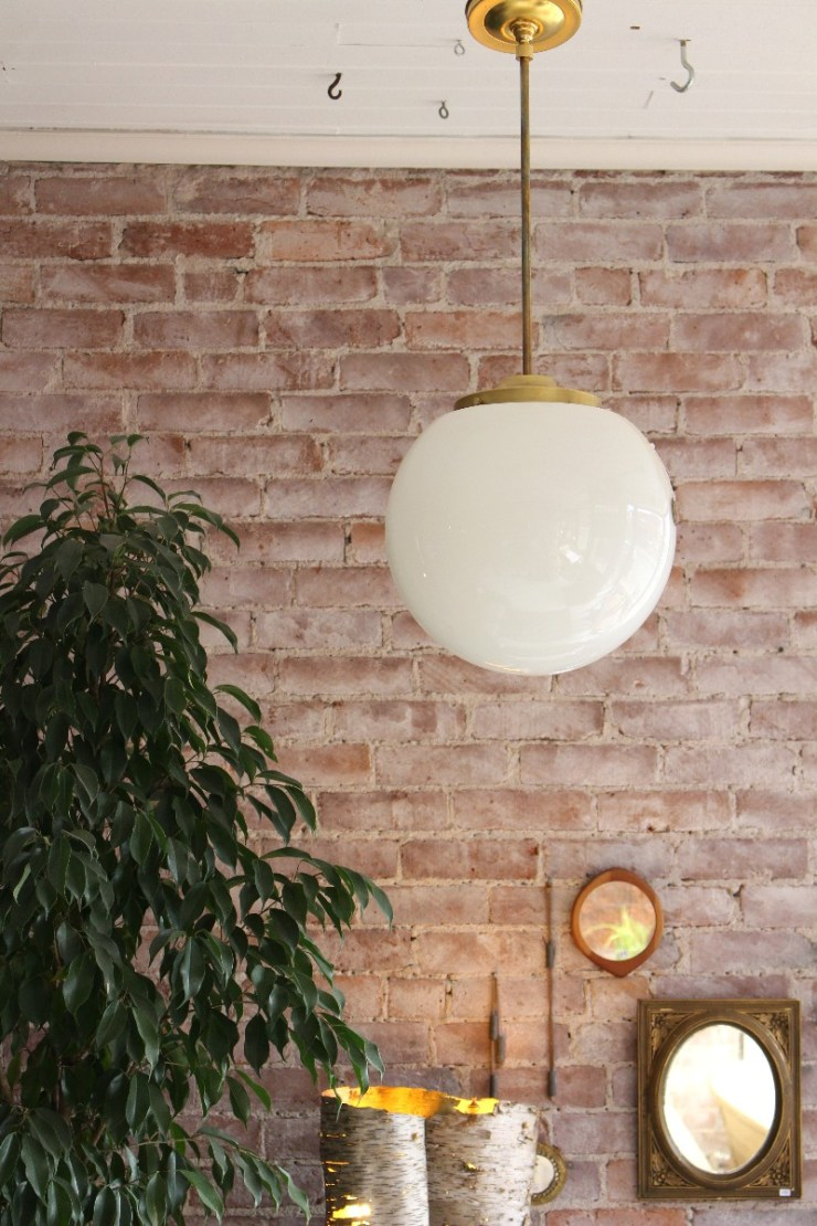 modern globe light