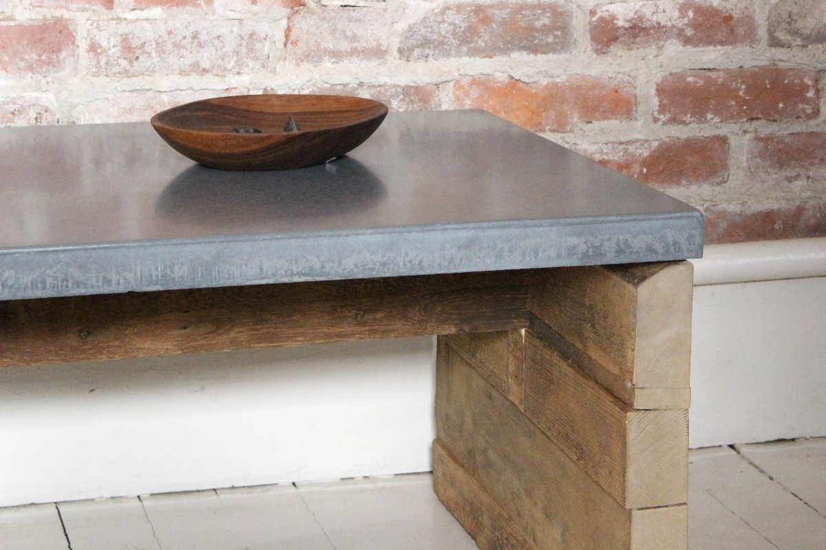 sticks and bricks concrete coffee table