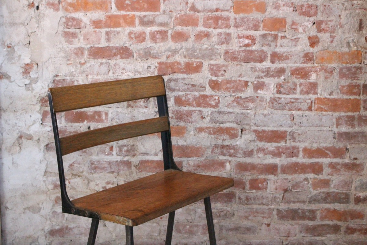 sticks and bricks school bench stool