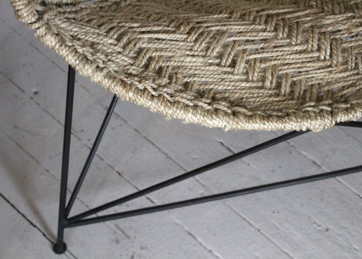 triangle jute chairs