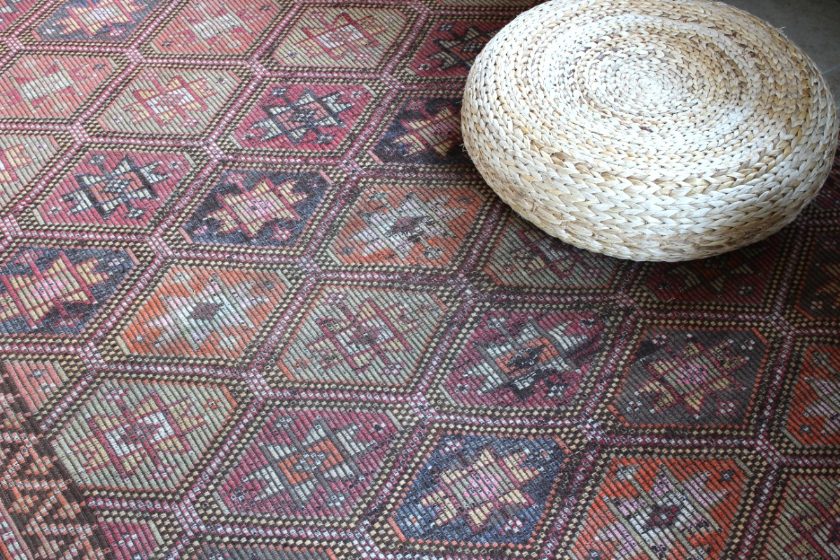 sticks and bricks vintage geometric area rug image