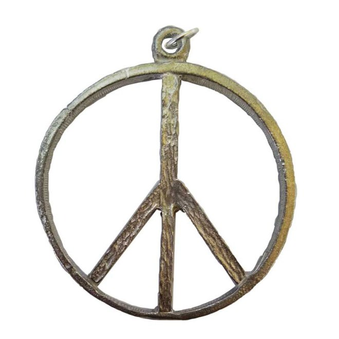 "1 3/4"" Peace Sign Amulet"