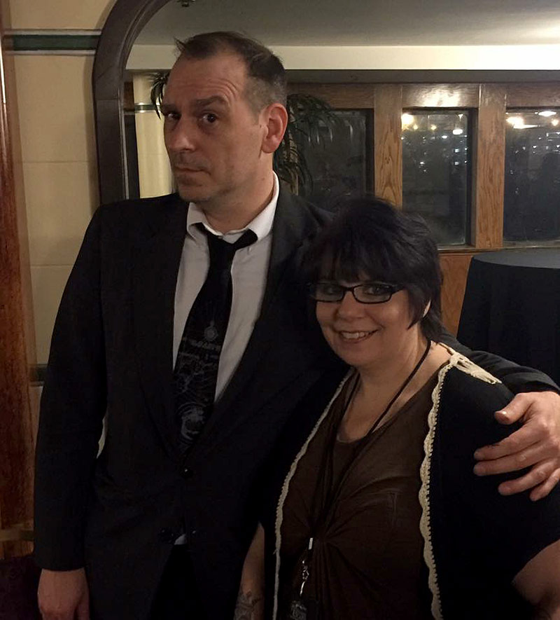 Debi with John Tenny on board the Queen Mary