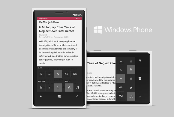 Windows Phone Article Reader