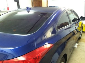Hyundai Elantra Coup After Mobile Window Tinting