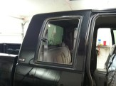 GMC 1500 Removed the hardware to professionally apply the Window Tint