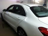 C300 Before Car Window Tinting 2