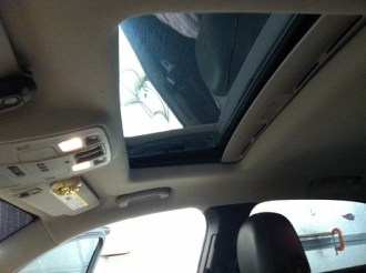 After Car Sunroof tinting inside