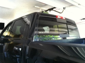 BLK Ford Truck Before Truck Tint