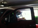 RED F150 Before Truck Tinting