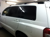 White Toyota SUV After Window Tinting
