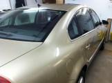 Gold Passat before Car Window Tinting