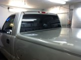 New truck tint after old purple stripped