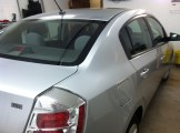 Silver sentra Before Mobile Window Tinting
