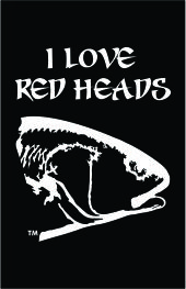 I Love Red Heads Decal