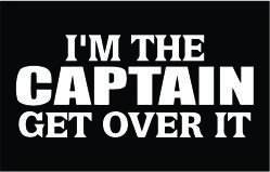 I'm the captain decal