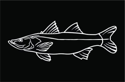 Snook profile decal