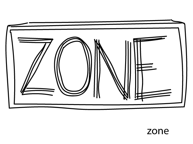 Z is for . . . zone!