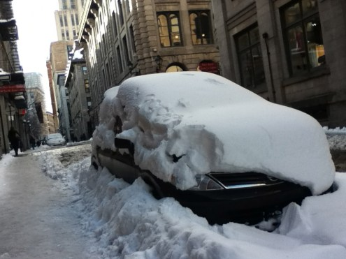 A buried car, Old Montreal