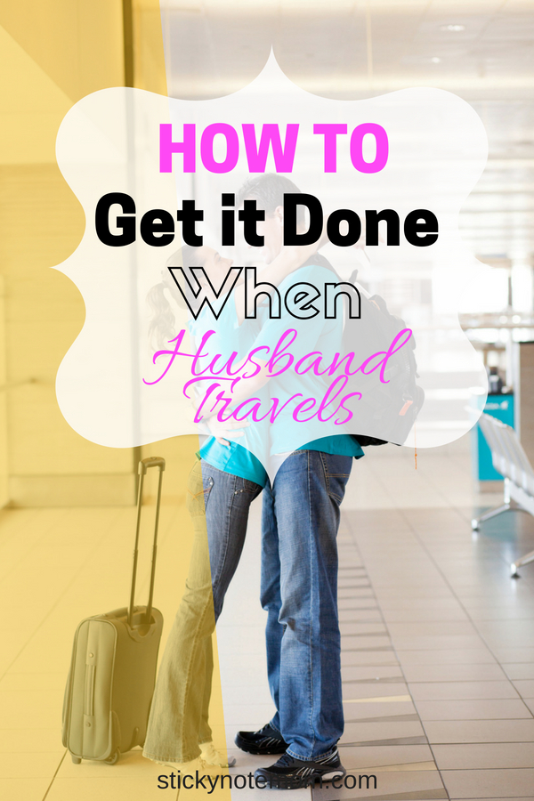 Having a husband who travels means more organization for me. Tips on time management, organization and getting it all done.