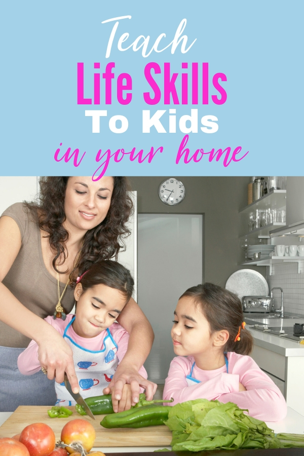 Young adults are entering the world and they don't have average life skills to help them. These tips will help you teach life skills to kids while you still have them at home. #parenting #lifeskills #parentingtips